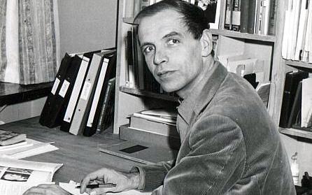 Knud Arnfred som lærer på Vallekilde Højskole, ca. 1970.